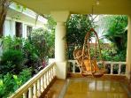 Relax in the swing in the verandah