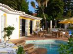 Continental Breakfast served daily at our pool side