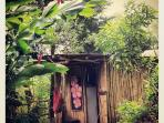 Bamboo house welcome :)