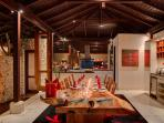 Villa Capung Dining at Night