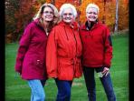 My mother and sisters last fall (no photoshop!)
