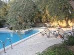 Zona relax ... lettini prendisole ... piscina ... bambini e animali al seguito!