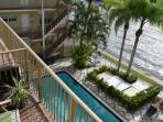 And balcony view of the pool.