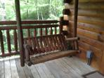 Deck porch Log Swing