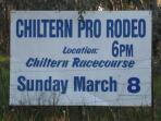 Chiltern Cottage and Indigo Suite Annual Chiltern Rodeo !!