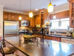 Chefs Kitchen with Prep Island, Breakfast Bar, Wine Cooler