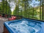 Hot Tub overlooking Lake