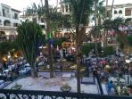 Villamartin Plaza is a hive of activity throughout the day but comes alive in the evening