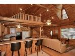 2nd floor loft, Has fold down futon, & Breakfast Bar Down stairs