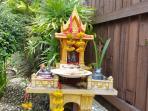 Buddhist shrine in garden