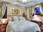 Second bedroom with king size bed and beautiful decor