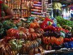 Margao Market - Colourful Bangles at a roadside stall
