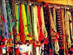 Margao Market - Beads of every hue and colour are on sale everywhere