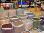 Margao Market - A huge assortment of grains on sale