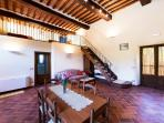 The apartment is located at the ground floor of a two floors completely renovated cottage