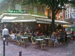 There are sidewalk cafés on virtually every corner.