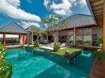 pool and villa view