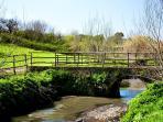 The beautiful Caffarella Park, just a short walk away
