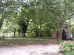 Vue sur le Parc de Castillou et sur la Chapelle