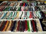 Beads of every hue and colour are on sale on the beaches and in the markets
