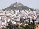 Lycabettus Hill (with Teleferic train up to the top for a stunning view of Athens)
