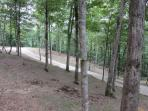 graveled driving/hiking trails