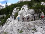Hiking trail on the Velebit mountain