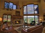 Vaulted Great Room with Floor to Ceiling Windows