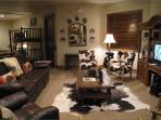Lower Level Family Room Opens to Large Sleeping Area