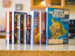 An assortment of books to read or to plan your Big Island excursion.