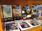 In the flat is a list of all the restaurants and shops in neighborhood, we also have Warsaw guides.