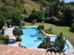 Stunning large pool 14m x 6m with separate kids area 8m x 4m with waterfalls set in lovely grounds.