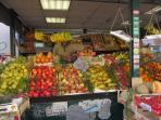 fresh fruit and vegetable market in via S.S. Quattro, 600 m from the apartment