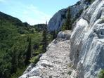 Trail on the Velebit mountain (57 km long)