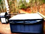 Hot tub on front deck