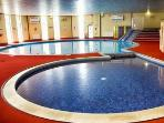 Indoor heated pool with children's shallow pool