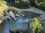 Another great spot for a lazy day by the river...Reals. Just 15 minutes drive from the house