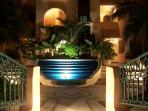 Quinta Maya fountain in garden
