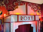 The deco cinema's foyer with box office!