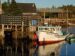 Lobster Boat with Bridge to LaHave Island in background