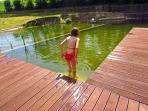Fun in natural pool