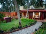 Villa and lawn