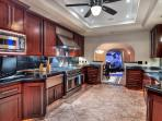 All new appliances and spacious counters in the gourmet kitchen
