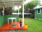 back yard with gazebo...
