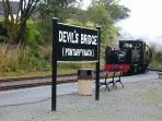 The Vale of Rheidol Railway at Devil's Bridge