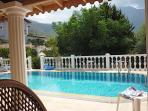 Pool depth is 1.2 to 1.8m. beware some Turkish pools which have no shallow end