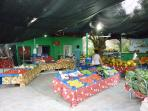 Fresh fruit and veg shop is just 400m from us