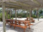 Picnic area for afternoon lunches