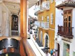 View from the balcony of Calle de la Moneda