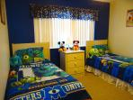 'Monsters Inc' room upstairs